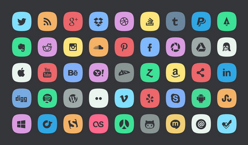 19 Free Vector Social Media Icon Sets That Can Suit Any Site Vivio